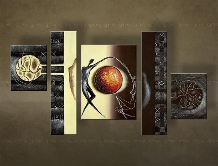 Ručně malovaný obraz na zeď ABSTRAKT FB145E5 malované obrazy FABIO