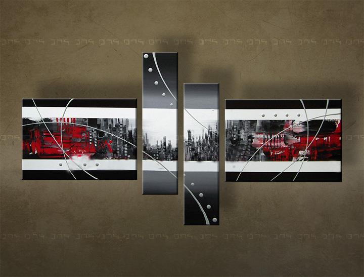 Ručně malovaný obraz na zeď ABSTRAKT FB161E4 malované obrazy FABIO