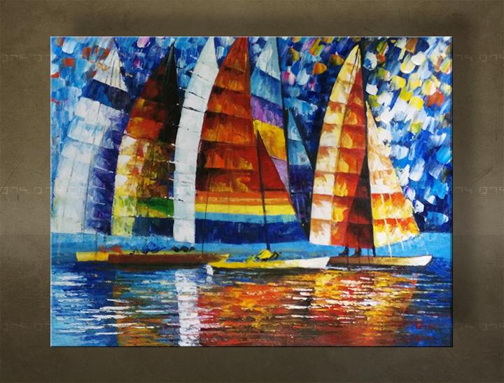 Ručně malovaný obraz na zeď MORE FB206E1 malované obrazy FABIO