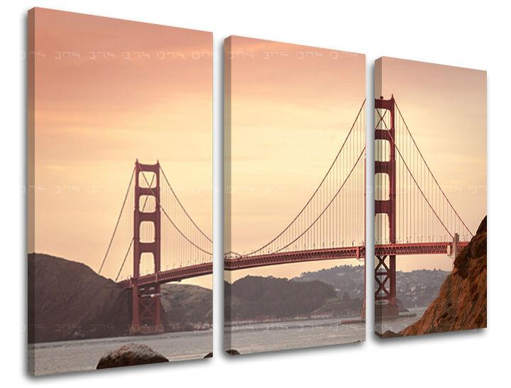 Obraz na stěnu 3 dílný MĚSTO / SAN FRANCISCO ME116E30 moderní obrazy na plátně