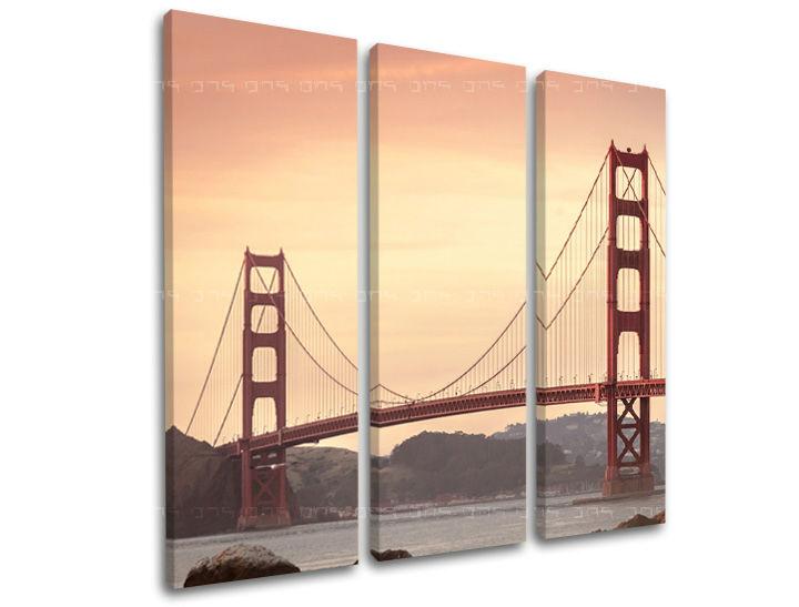 Obraz na stěnu 3 dílný MĚSTO / SAN FRANCISCO ME116E31 moderní obrazy na plátně