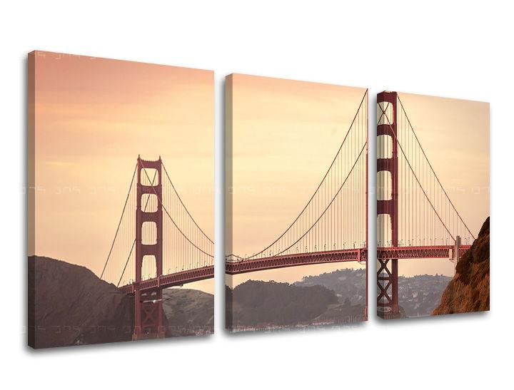 Obraz na stěnu 3 dílný MĚSTO / SAN FRANCISCO ME116E32 moderní obrazy na plátně