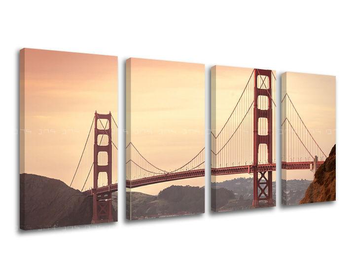 Obraz na stěnu 4 dílný MĚSTO / SAN FRANCISCO ME116E41 moderní obrazy na plátně