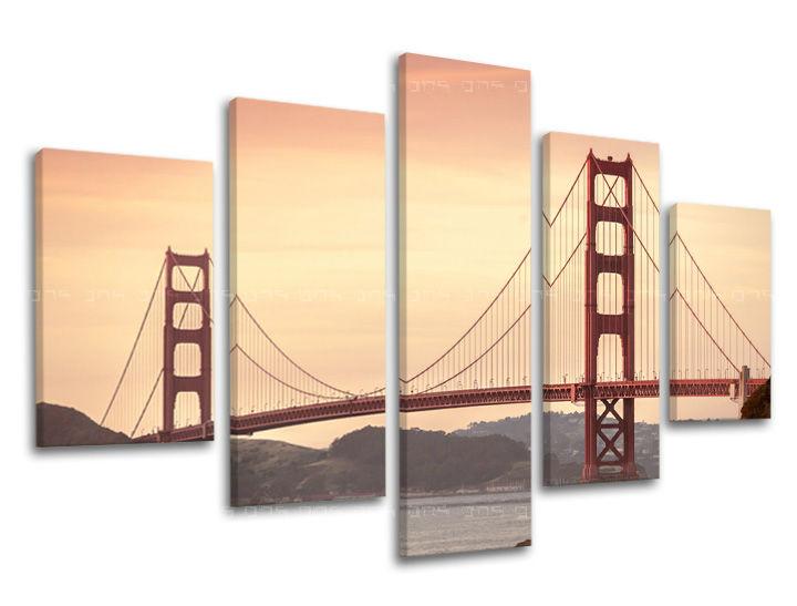 Obraz na stěnu 5 dílný MĚSTO / SAN FRANCISCO ME116E50 moderní obrazy na plátně
