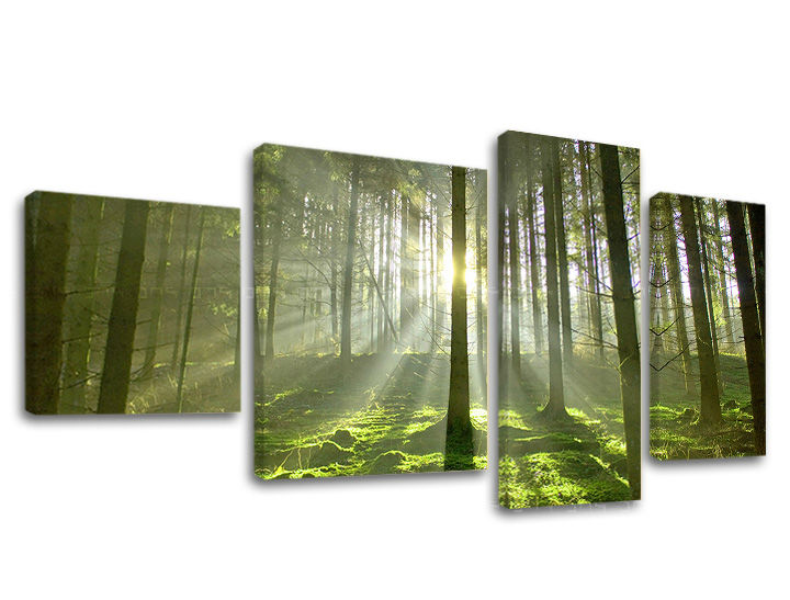 Levně Obraz na stěnu 4 dílný STROMY ST021E40