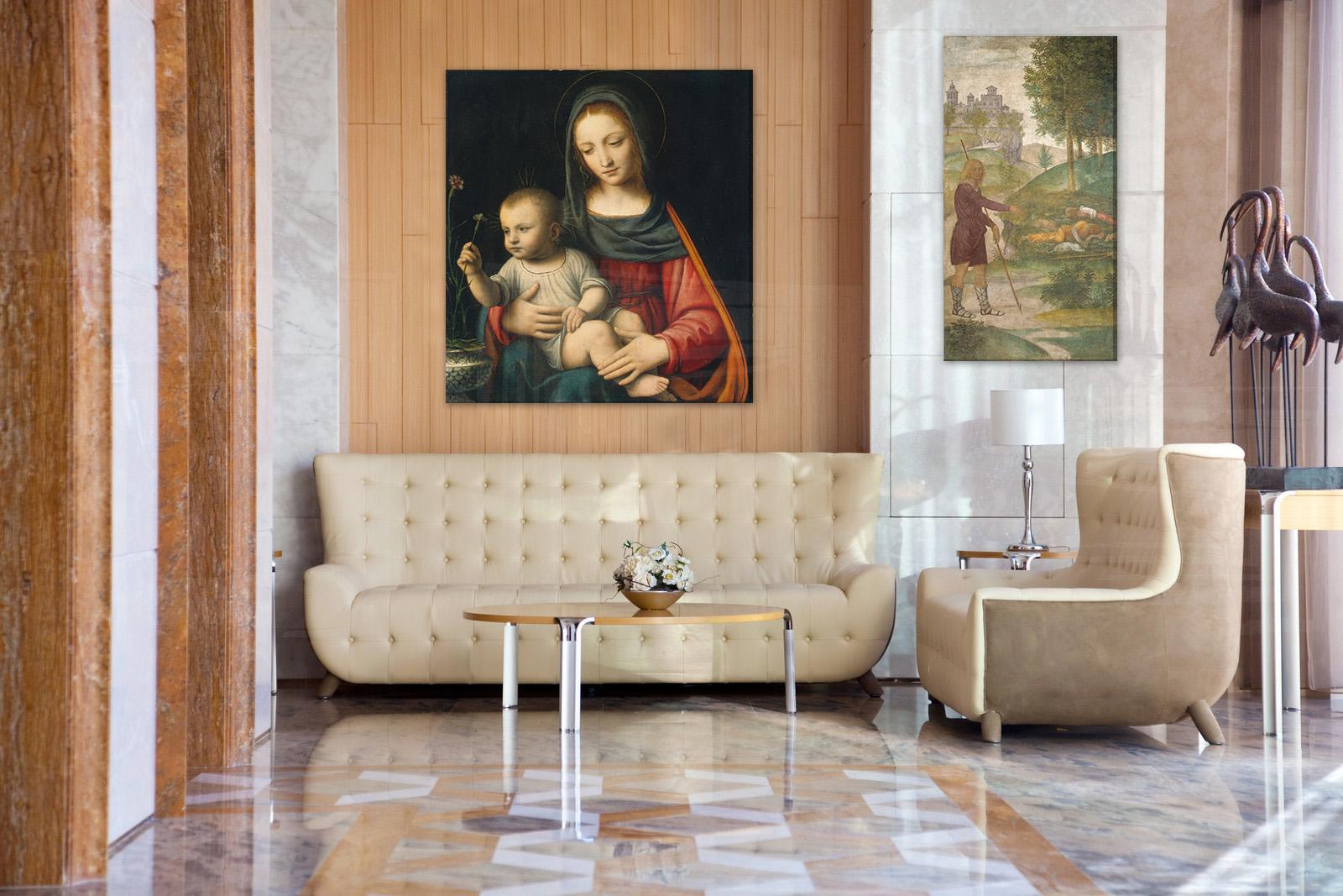 Obraz na plátně REPRODUKCE – Leonardo da Vinci reprodukce 120x110 cm
