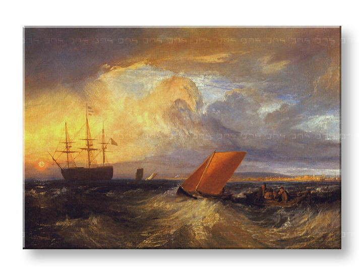 Obraz na plátně SHEERNESS VISTA DAL NORE – William Turner REP124