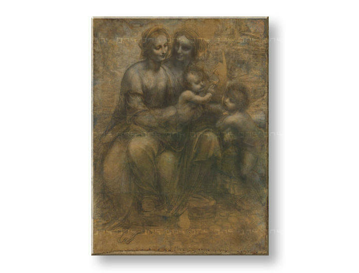 Obraz na plátně VIRGIN AND CHILD WITH SAINT ANNE – Leonardo da Vinci REP168